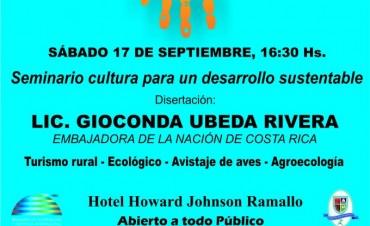 La embajadora de Costa Rica disertará en Ramallo