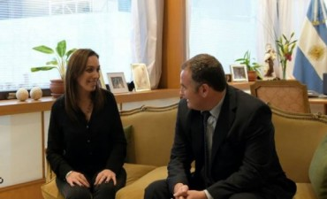 El Intendente Poletti visitó a la gobernadora Vidal