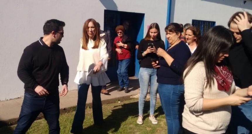Vidal 'Pude saludarlo a Silvano Cattini, cumplimos con los vecinos para que se repavimente el acceso'