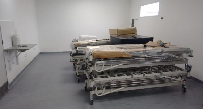 Ya están en el hospital las camas de terapia que donó  Xstorage y Omarac Construcciones S. A.