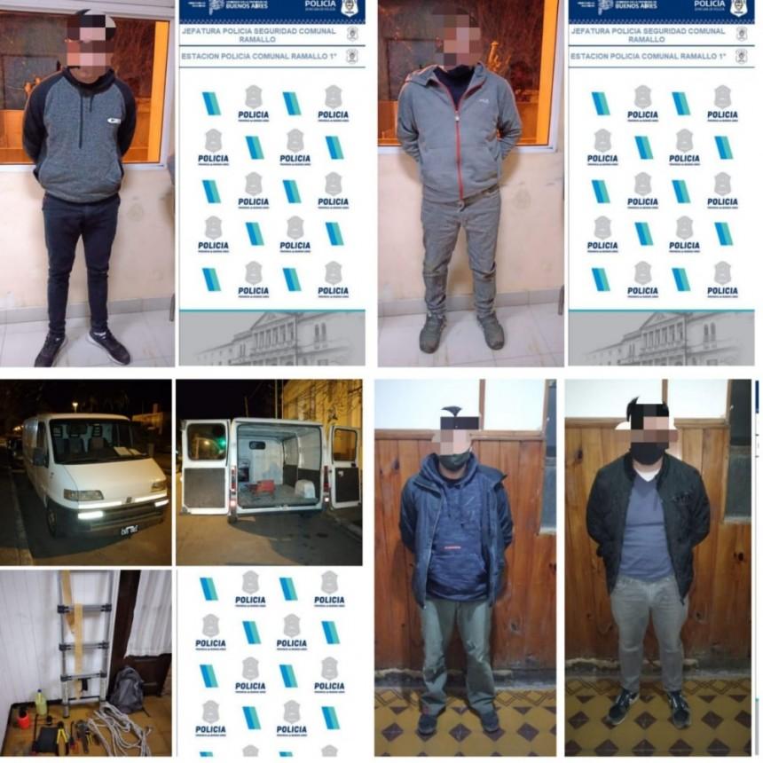 Cinco detenidos: tres por intento de robo a un comercio, eran de Pergamino