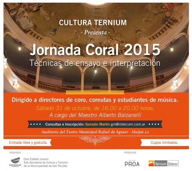 Cultura Ternium: Jornada Coral 2015 - Técnicas de ensayo e interpretación