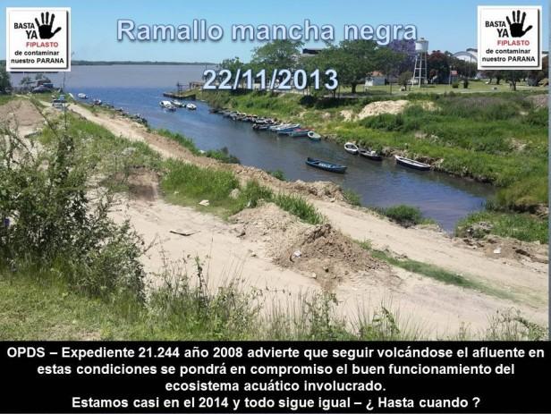 Fiplasto: Prohíben el vertido de líquidos al río paraná