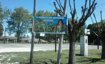 Destruyen un cartel del Frente Progresista en Villa General Savio