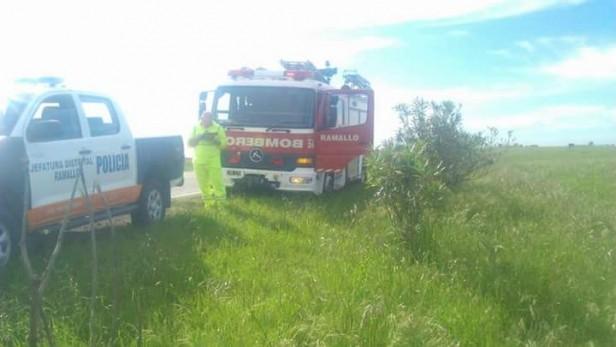 Intervención de bomberos voluntarios