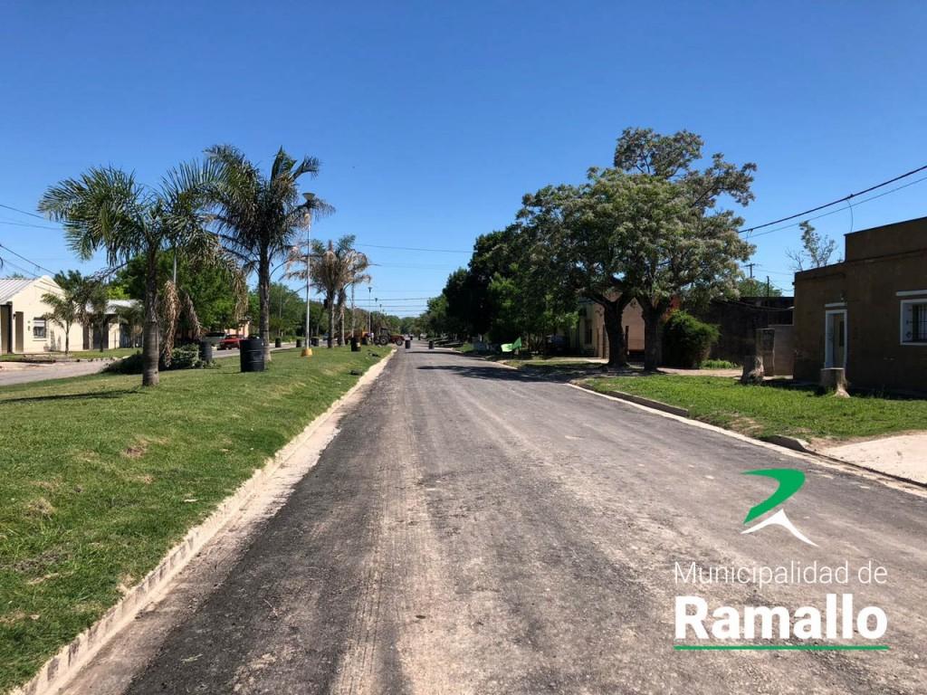 Ramallo: Asfaltado de Avenida Belgrano