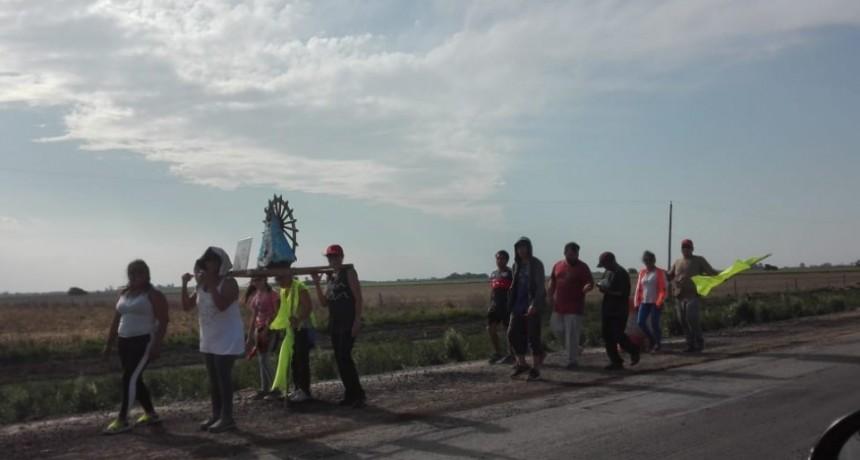 Peregrinos ramallenses y nicoleños rumbo a Luján