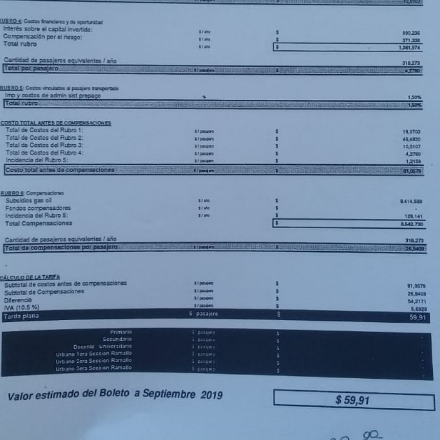 La empresa 500 pide aumentar el boleto del transporte local a $60 pesos
