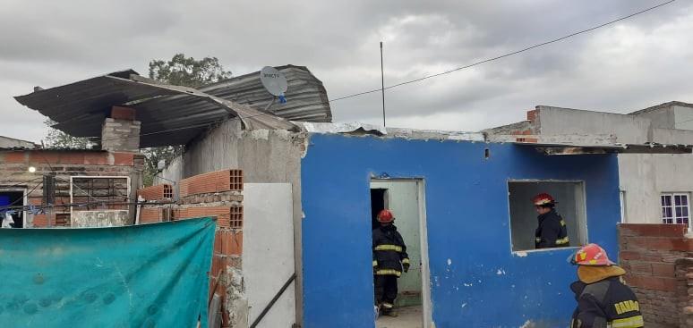 Voladura de un techo en Ramallo