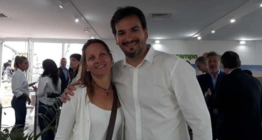 Sebastián Galmarini visita Ramallo
