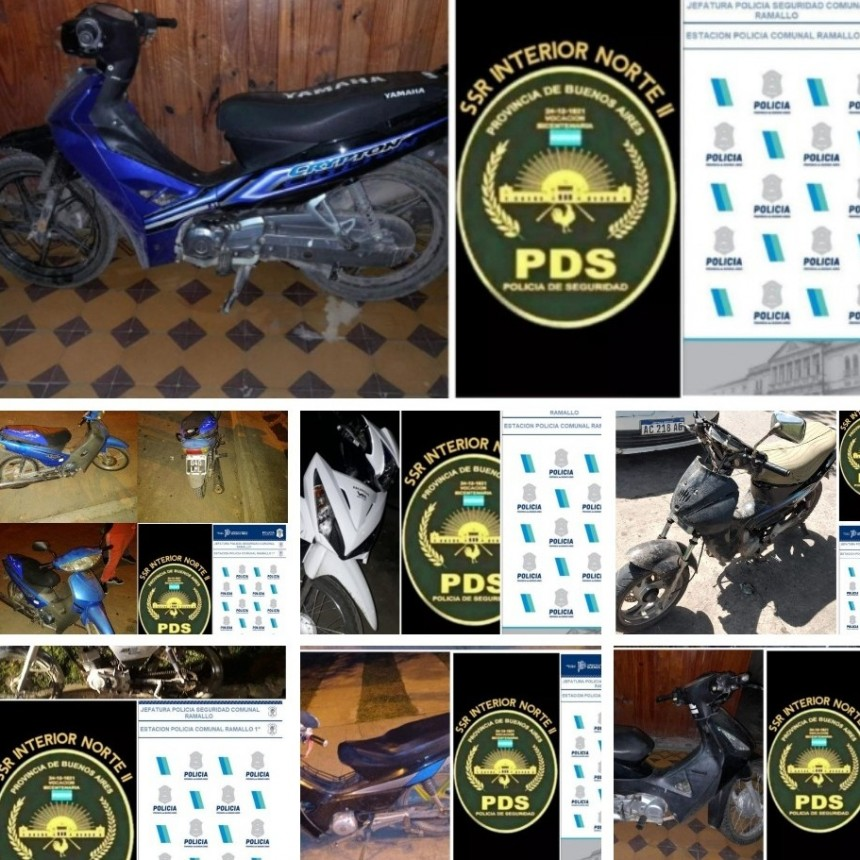 La policía secuestró una importante cantidad de motos durante el último fin de semana