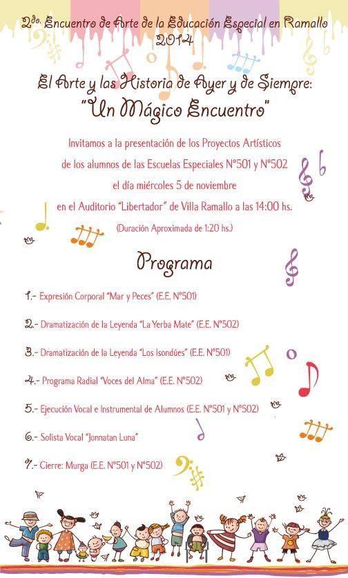 2do ENCUENTRO DE ARTE DE EDUCACIÓN ESPECIAL 2014