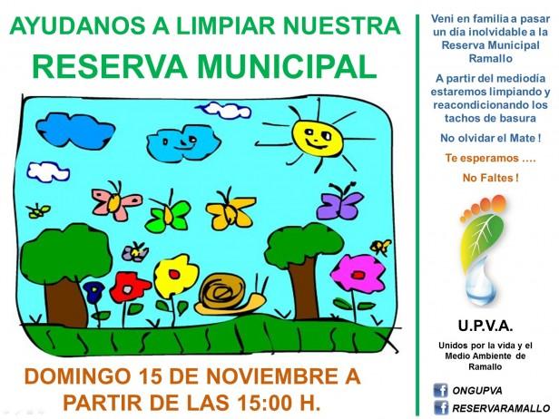 UPVA invita a la comunidad a limpiar la reserva