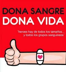 """Campaña """"Dona sangre , dona vida """""""