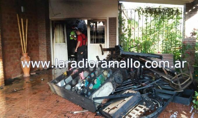 Se incendió un galpón en Villa Ramallo