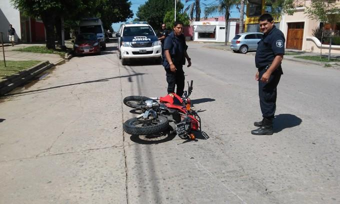 Villa Ramallo: Accidente en la Avenida San Martín