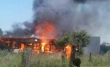Ardió una vivienda en Villa General Savio