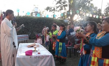 Celebración de la Fiesta de la Virgen de Copacabana en Villa Ramallo