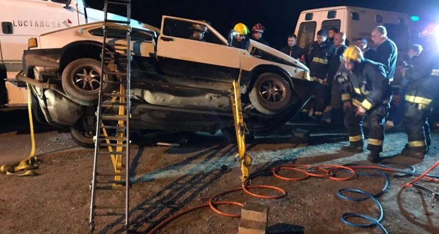 Grave accidente en el cruce de las rutas provinciales 51 y 1001