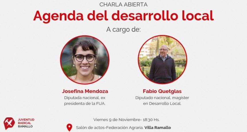 Los diputados nacionales Fabio Quetglas y Josefina Mendoza visitarán Ramallo