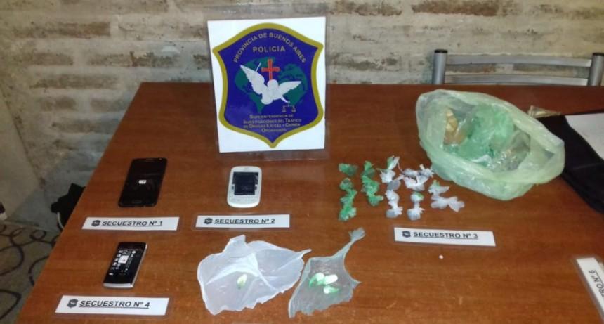 Operativo y secuestro de drogas