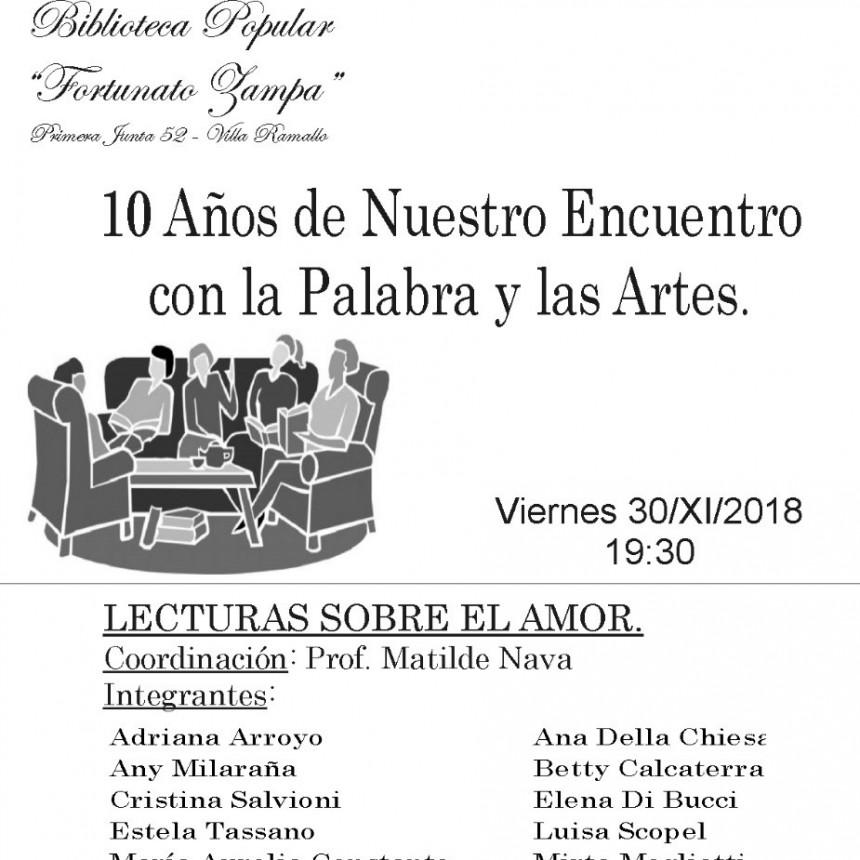 El taller literario cumple 10 años