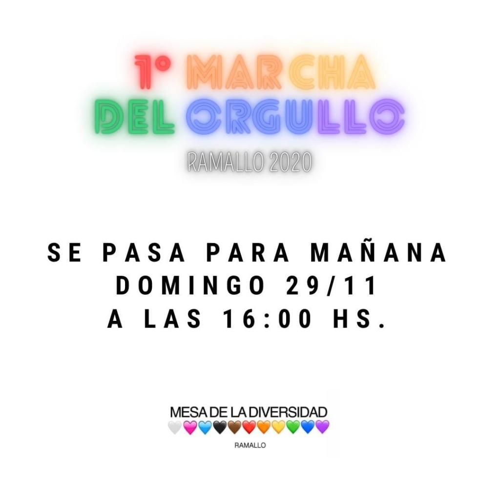 Este domingo se realizará la primera marcha del orgullo en Ramallo