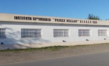 Escuela secundaria pública en Pérez Millán