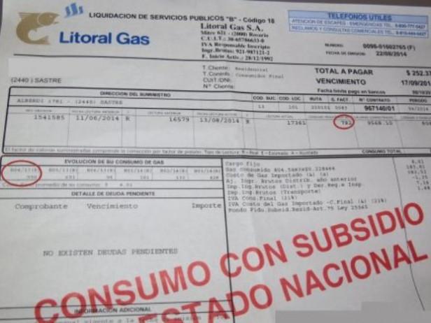 Frenan por seis meses más el aumento de gas