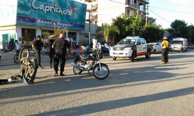 Accidente con lesionados en Villa Ramallo