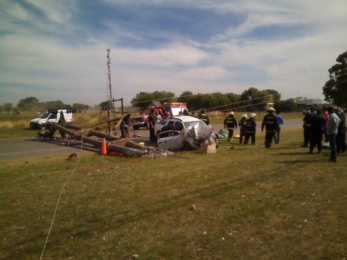 Accidente con tres víctimas fatales en Ramallo