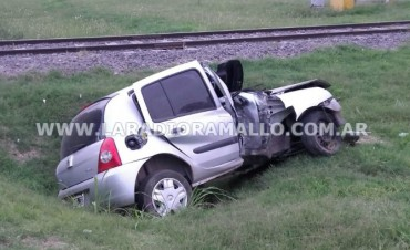 Accidente en camino de la costa