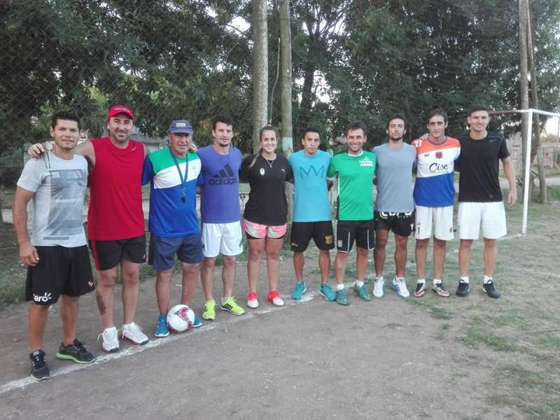 Encuentro con futbolistas