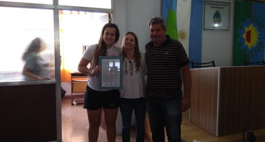 Laurina Oliveros deportista destacada