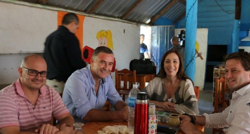 María Eugenia Vidal- Gobernadora de la provincia de Buenos Aires  'En esto somos un equipo, para mí no importa de qué color partidario es el Intendente porque es trabajo para Ramallo'