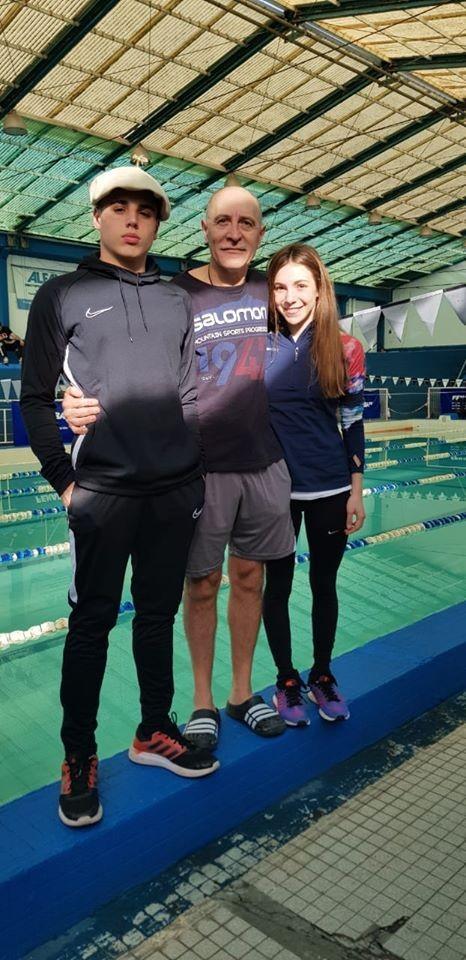 Buen desempeño de CatalinaOviedo y Francisco Butti en el Argentino de natación