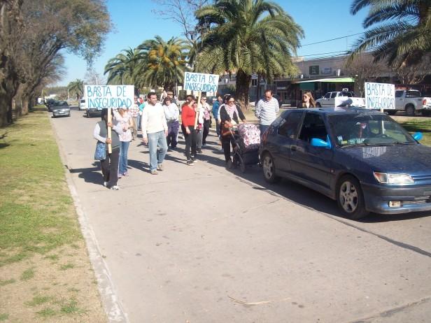 Marcha por la inseguridad en Ramallo