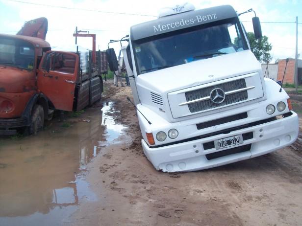 Camiones encajados