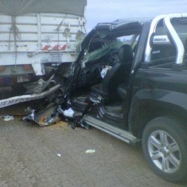 Accidente de tránsito en cercanías de La Violeta