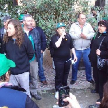 Reprimen a los trabajadores de ATE en San Nicolás